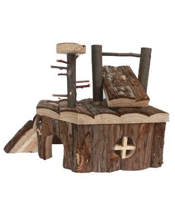 Aire de jeux en bois pour hamsters, souris