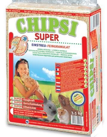 Litière granulats fins Chipsi Super 60L