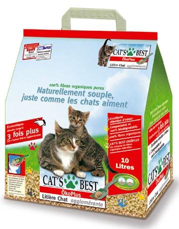 Litière pour chat Cat's Best Oko Plus, Poids Sachet: 10 L (0.69E / l )