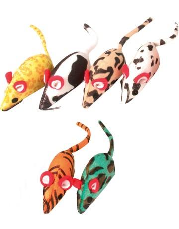 Lot de jouets souris pour chat, Modèle: lot de 6