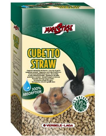Litière Cubetto Straw en granulés de paille comprimés naturels Sachet 5 Kg