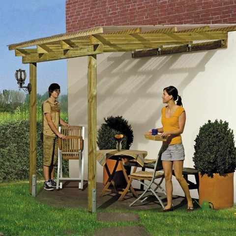 Pergola Universelle Weka avec ancrages, Taille: Taille 5 (21.50 m )