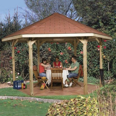 Tonnelle de jardin Paradies Hegaxonal
