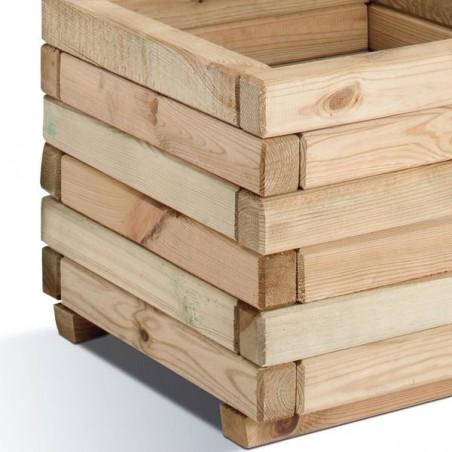 Jardinière carrée Stockholm Burger en bois de pin