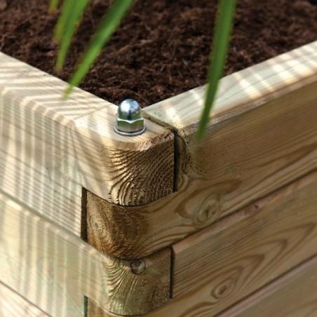 Bac à fleurs carré OLEA Pin traité FSC