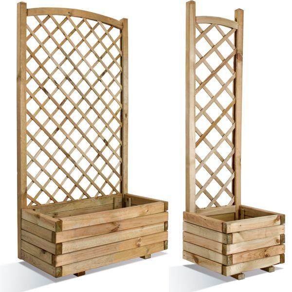 Bac en bois LIERRE Arc + Treillage, Taille: Volume 80 - 64.5 litres