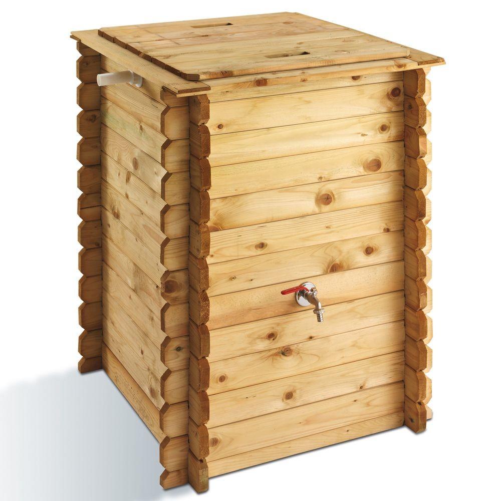 Récupérateur d'eau PRATIK en bois de pin 320L - Ht. 97 cm