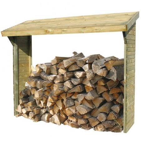 Abri bûches en bois 2 stères