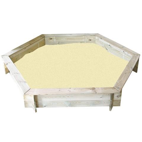Bac à sable hexagonal + couvercle 180cm - Pin traité FSC