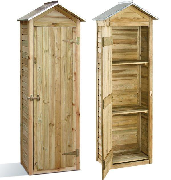 Armoire de rangement PRATIK en bois de pin, Taille: MIRA