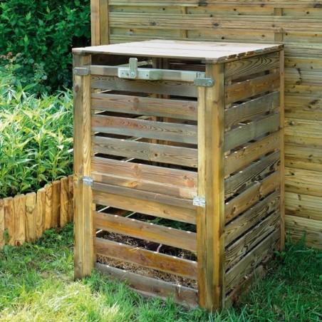 Composteur en Pin PRATIK - 2 ouvertures